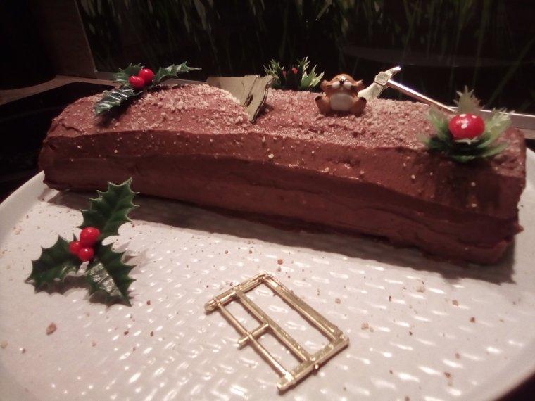 Bûche de Noël chocolat sans gluten sans lactose