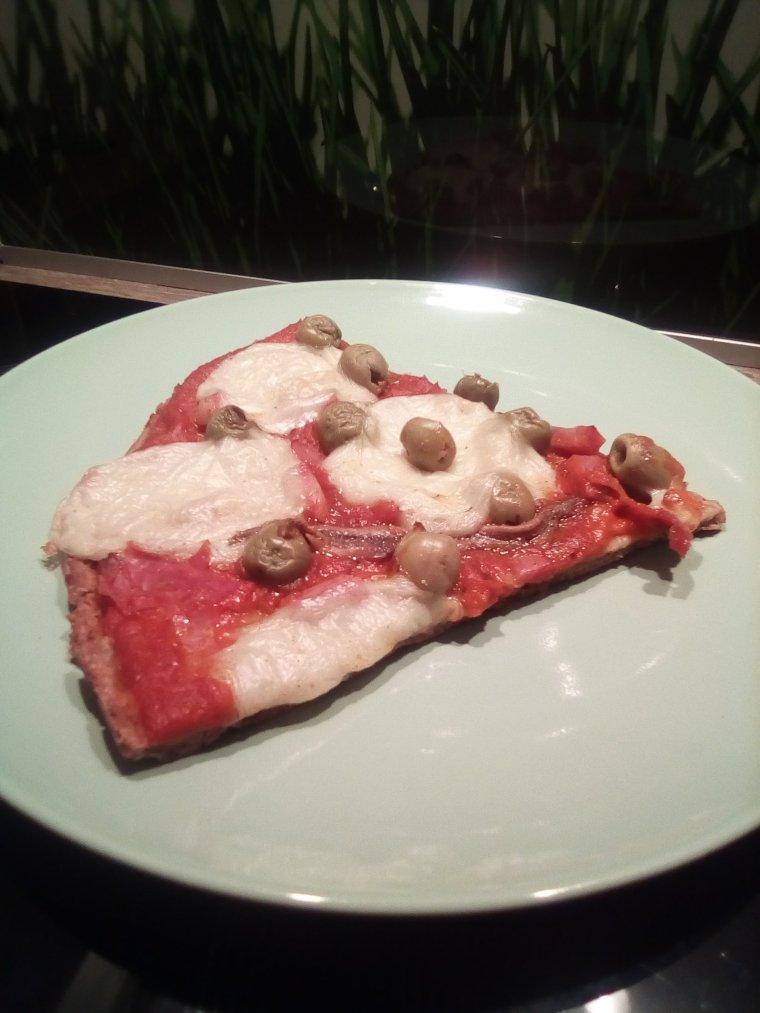 Pizza à la mozzarella vegan